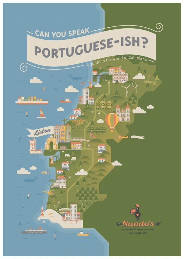 Northwest Suburbs Chicago Map%0A South African design agency Radio created the illustrations for Nando u    s  international campaign book  The book features a map of Portugal and other  cool