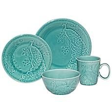 Peacock 16 Piece Dinner Set $69.99 www.allthingspeacock.com - Peacock Dining Room
