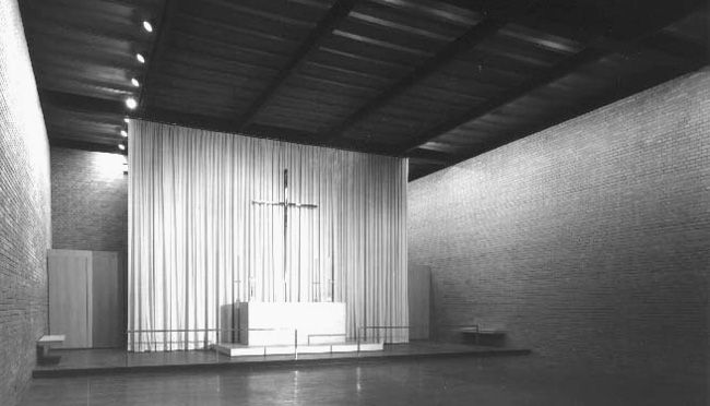 Ludwig Mies van der Rohe: Robert F. Carr Memorial Chapel of St. Savior - IIT chapel chicago - 1952