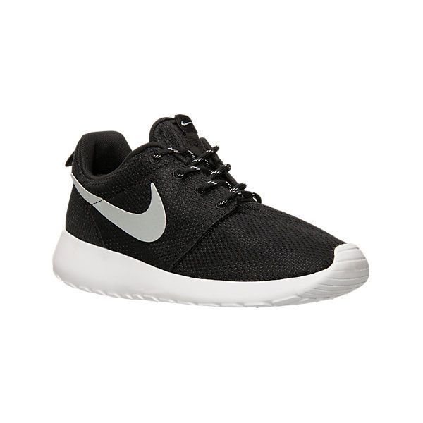 Nike Women's Roshe One Casual Shoes ($75) ❤ liked on Polyvore featuring shoes, athletic shoes, black, nike, wide shoes, lightweight shoes, kohl shoes and low shoes