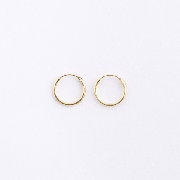 Gorgeous Dainty These Small Gold Hoop Earrings Are Great For Everyday Plated Sterling Silver Tiny Hoops The Perfect Fini
