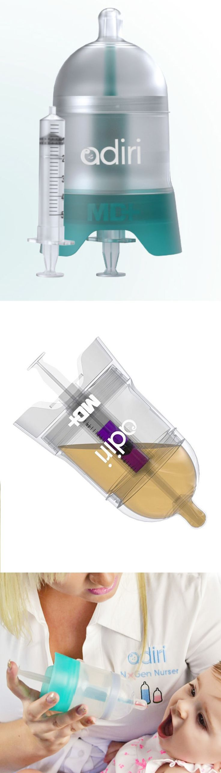 MD+ 5.5-Oz. Medicine Delivery Nursing Bottle. Easily deliver medications through this device disguised as a bottle.
