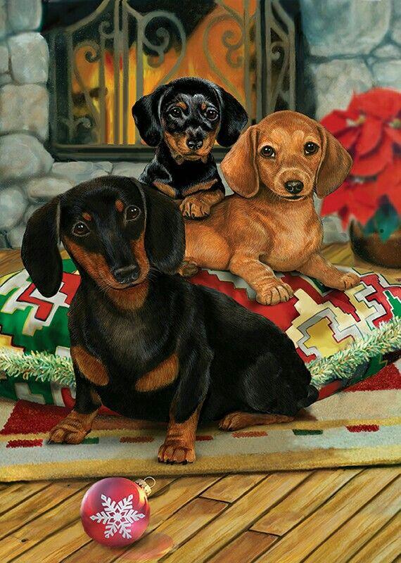christmas dog clipart