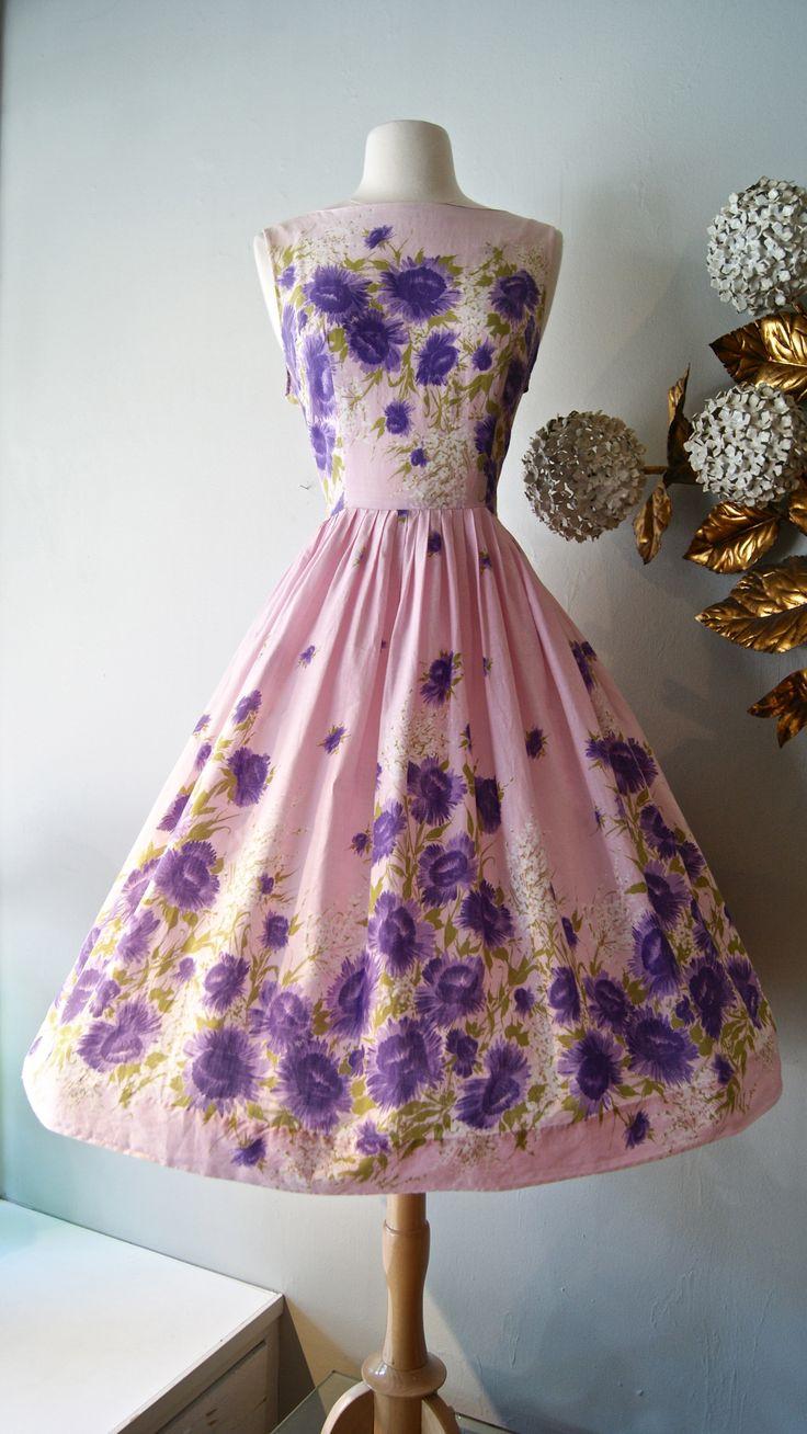 vintage dress / 1950s Dress … available at xtabayvintage.com #1950sdress #vintagedress