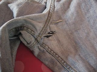 great tutorial for mending holes in jeans - I hate it when I have to get rid of my favorite jeans!