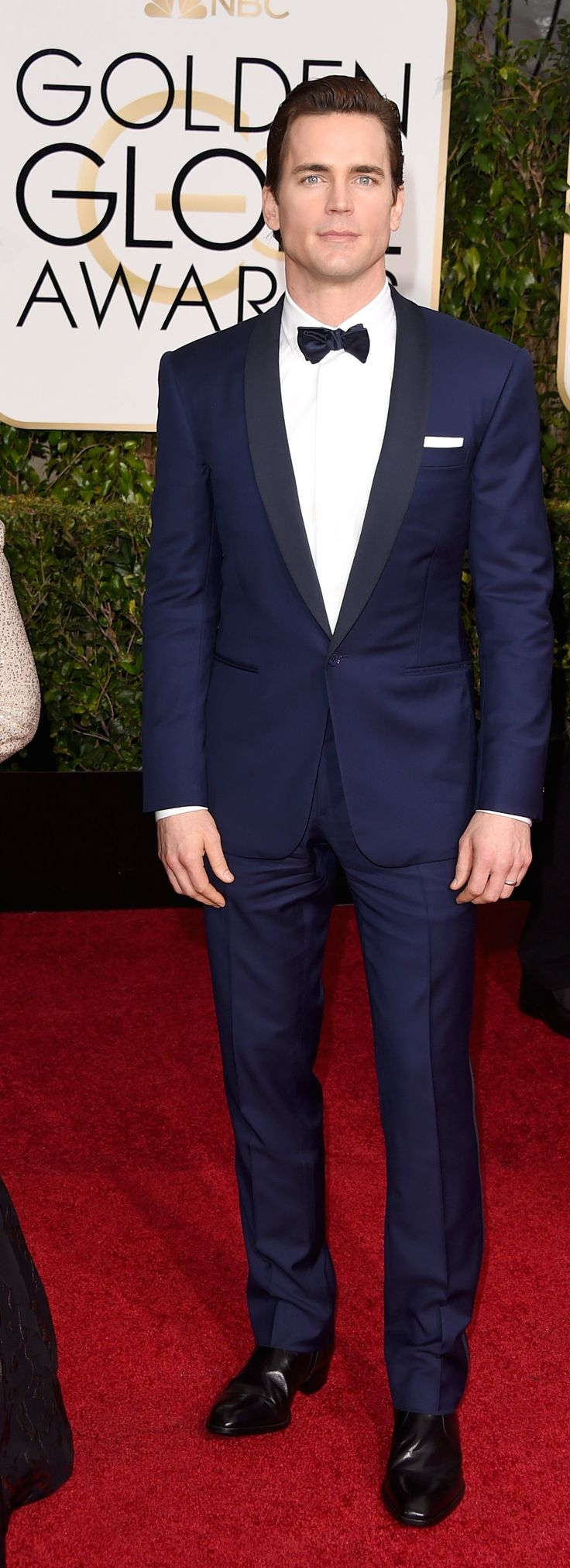Matt Bomer's midnight-blue Ralph Lauren tuxedo at the 2015 Golden Globes