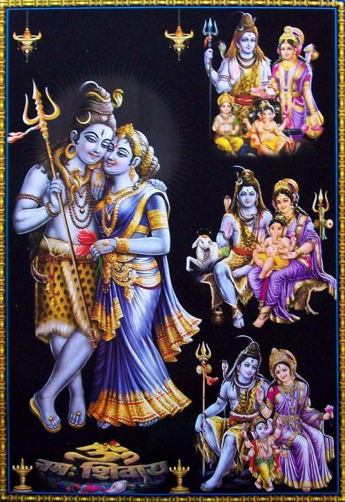 Shiva Shankar Parvati, Baby Ganesh (via ebay: Indian_ash)