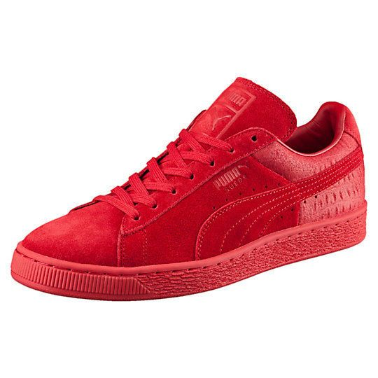 PUMA SUEDE CLASSIC CASUAL EMBOSS MENS SNEAKERS 361372 03 RED