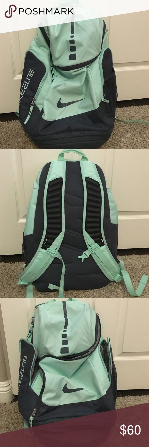 Nike Hoops Elite Basketball Backpack Nike Elite Basketball Backpack. Very good condition, all zippers work great. Minimal dirt marks which can be easily cleaned with water and soap. Perfect for basketball with shoe storage on the bottom. Nike Bags Backpacks