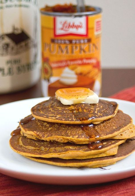 gluten-free pumpkin pancakes with Garbanzo Bean Flour - going to try it with Joseph's Grainery of course.