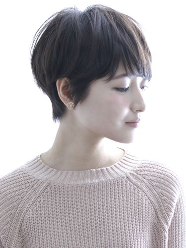 between a pixie and a bob / grow-out style