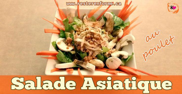 Il n'y a pas de raison de se tanner de manger de la salade quand on trouve de nouvelle manière de complètement changer ce plat santé ;) Ici j'avais le goût d'un plat asiatique et je voulais utiliser les restants de mon poulet effilochéfait lors de ma journée de préparation de la semaine. Cette recette a été un succ...