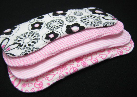 4 Flannel Pantyliners with optional hidden PUL  by SwaddleinCloth