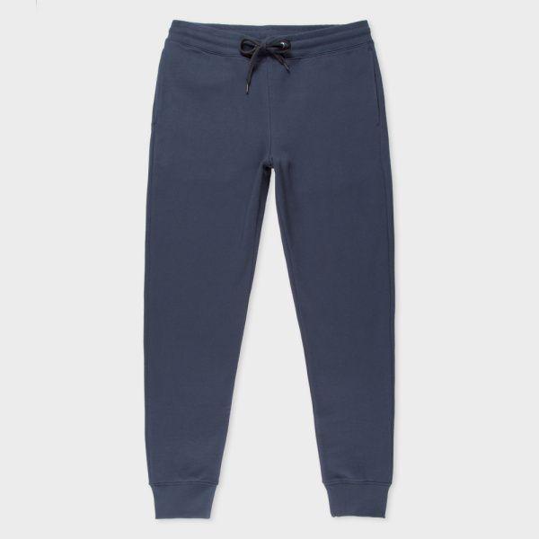 Men's Slate Blue Organic-Cotton Sweatpants
