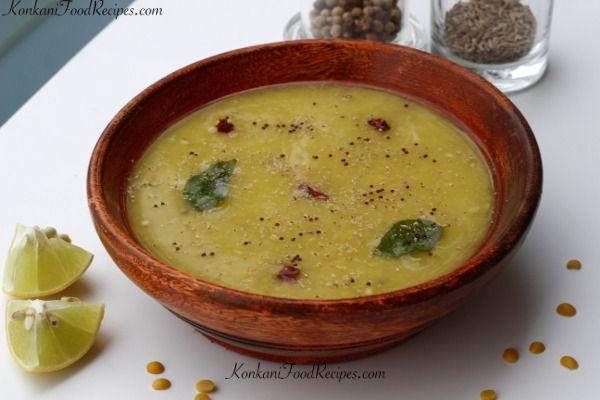 Spicy Cumin And Pepper Dal Recipe. Jeere Meere Saaru in Konkani.