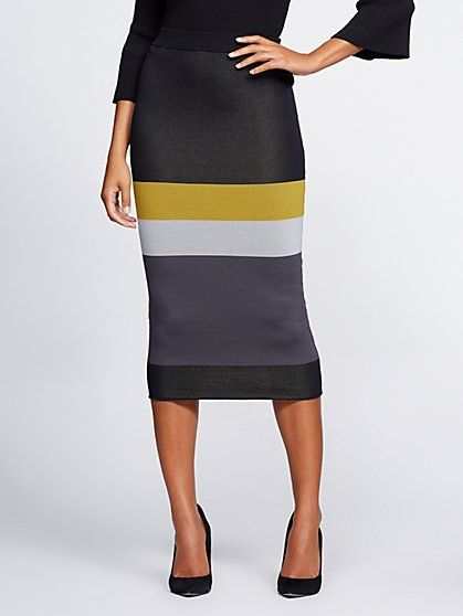 14130d69deac Gabrielle Union Collection - Colorblock Sweater Skirt - New York & Company