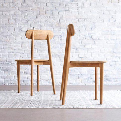 Chaise en teck Jonàk Tikamoon - Naturel- Vue 1