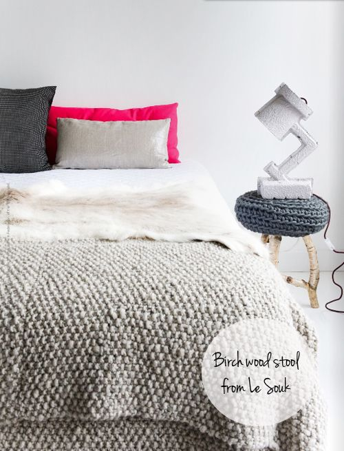 ...: Beds Covers, Estes Magazines, Color, Texture, Interiors Design, Hot Pink, Knits Blankets, Bedrooms Inspiration, Chunky Knits