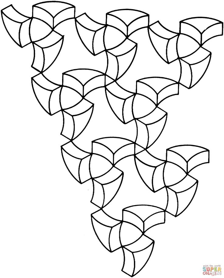 optical art coloring pages - photo#22