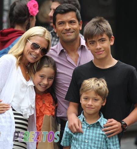 Mark Consuelos Kids Kelly Ripa with Michae...