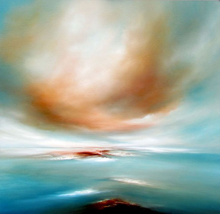 """Saatchi Online Artist: Alison Johnson; Oil, Painting """"I dreamed"""". It reminded me of this old movie... Voyage to the bottom of the sea."""