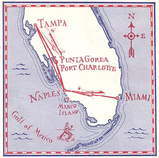 Map Of Florida Highways.Naples Airlines 1977 Airline Route Maps Pinterest Naples