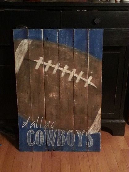 I adore this vintage football with favorite team.