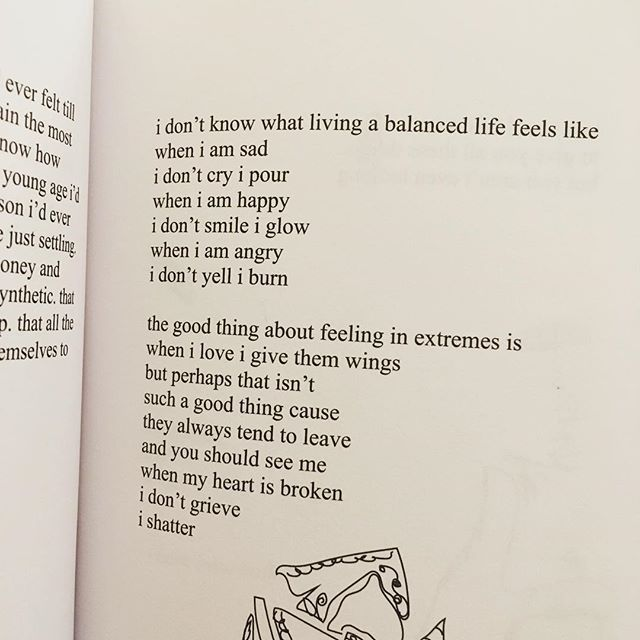 Milk and Honey by Rupi kaur. I have written so many of these poems down. They are so beautiful. @riazed @jadegordon @emcnorris @meredithrothman @emmaemmaread @amy_wren