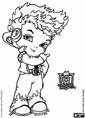 571 best coloring the media images on pinterest   coloring books ... - Monster High Chibi Coloring Pages