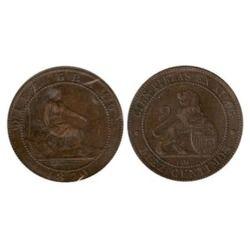 10 céntimos 1870