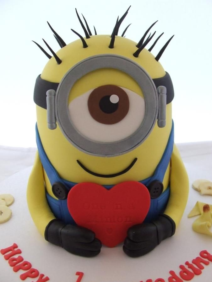 How To Make A One Eyed Minion Cake