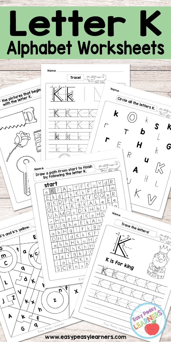 Free Printable Letter K - Worksheets - Alphabet Worksheets Series