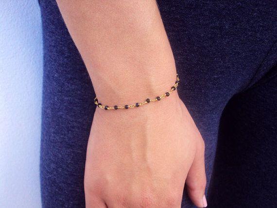 Crystal Bracelet 14K Gold Bracelet Gemstone by VasiaAccessories