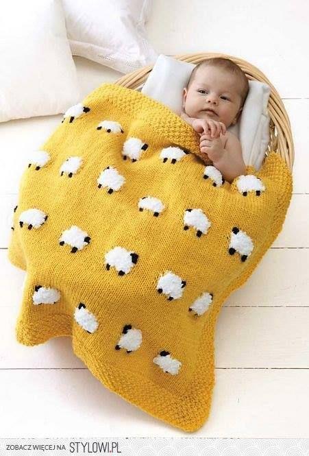 Şiş Örgü Bebek Battaniyesi Modelleri