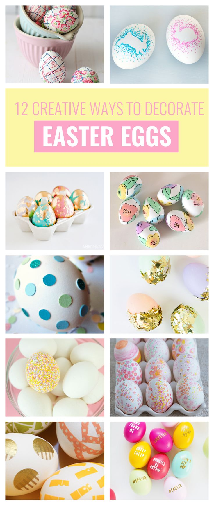 318 best easter spring ideas images on pinterest kitchens cupcake 12 creative ways to decorate easter eggs negle Choice Image