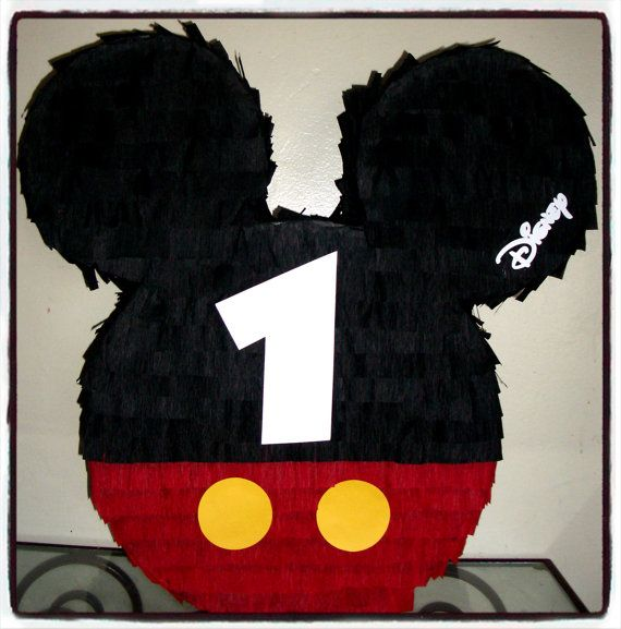 Mickey Mouse Birthday Pinata by BrendasPINATAS on Etsy