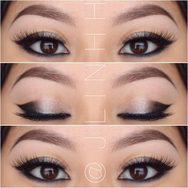 Cat eye makeup for Asian eyes.