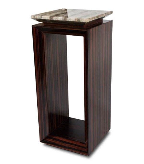 AICO Furniture - Sergio Accent Table W/Ebony Tall (2 Pc) - FS-SRGIO225