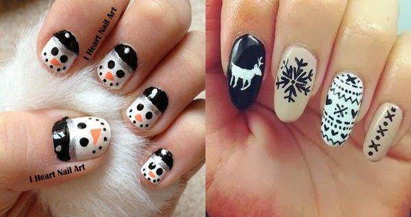 Simple Christmas Nail Design Ideas