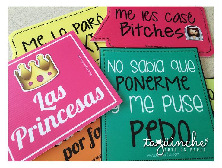 Letreros para boda www.taguinche.com