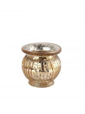 Mercury Gold Tealight Holder from Nordic House