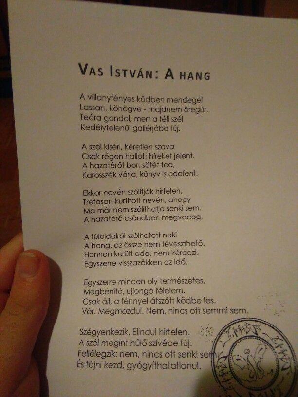 Vas István: A hang