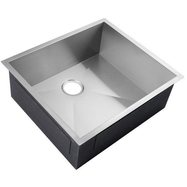 25 X 22 Undermount Stainless Steel Single Bowl Kitchen Sink W