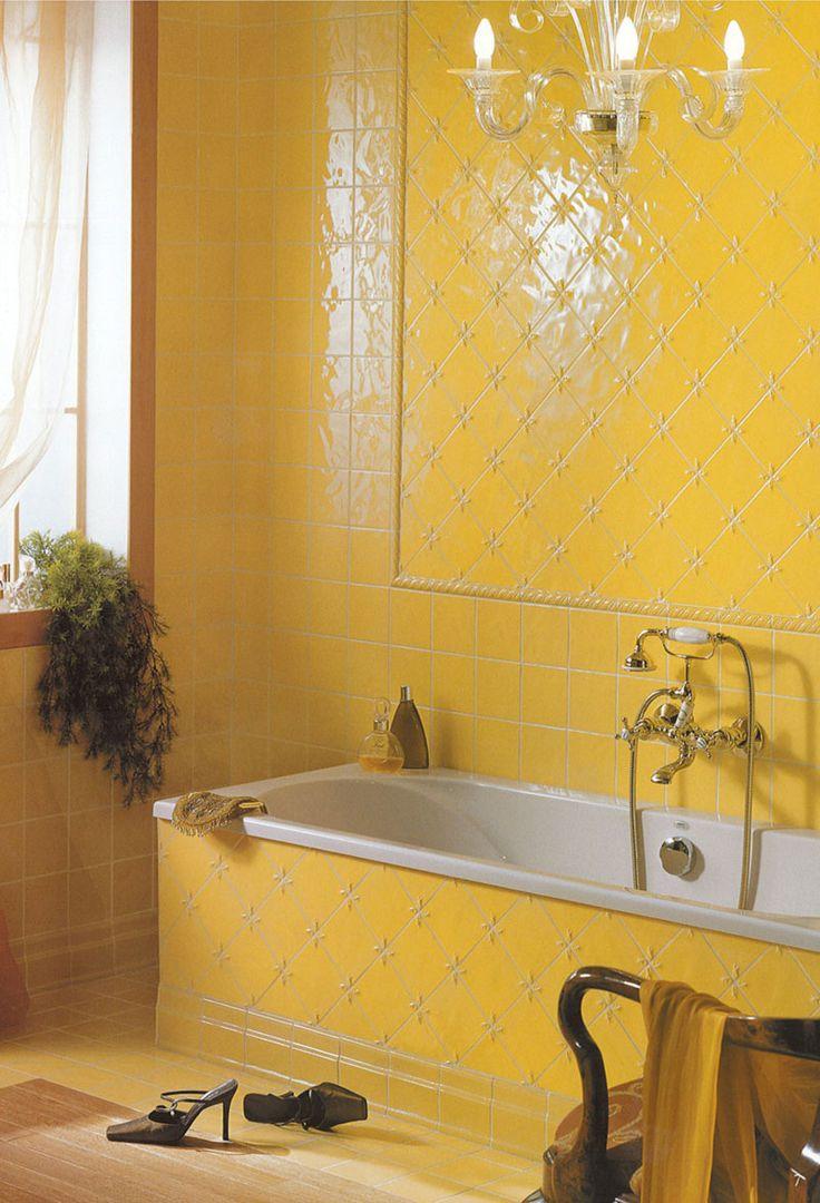 Badezimmer Blau Gelb Slagerijstok