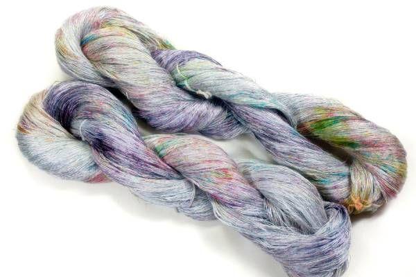 *夢紡ぎ* 手染め糸 ベルギー リネンa 218g かぎ針編み 棒針編み 手編み夏糸 麻_画像2