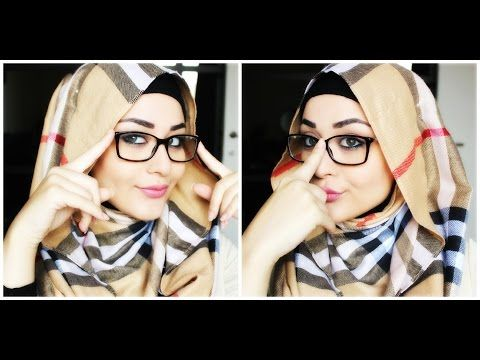 Tutoriel Hijab avec lunettes - Hijab with glasses Tutorial - YouTube