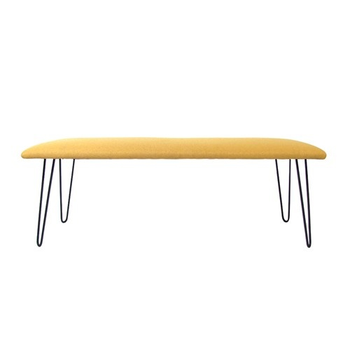 Mid-Century Welded Iron Hairpin Leg Bench (this style, different material): Style