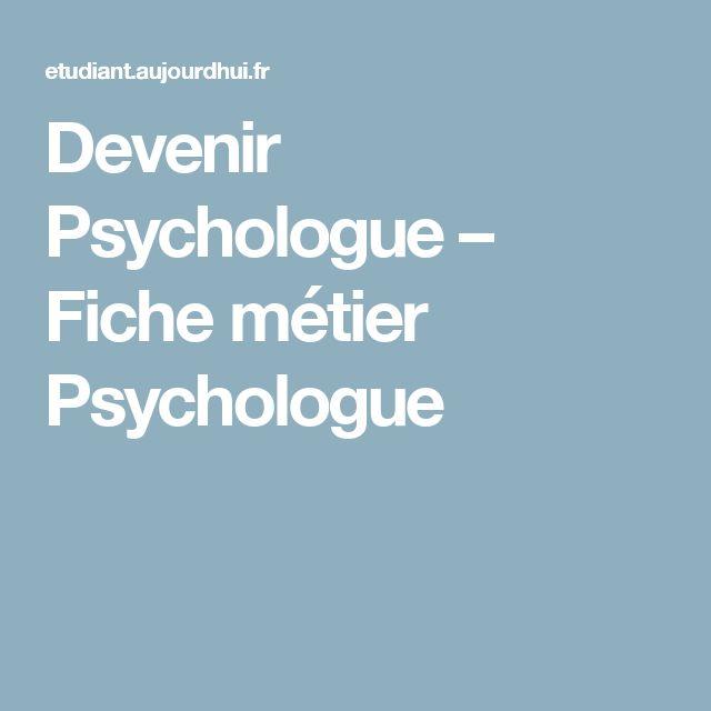 Devenir Psychologue – Fiche métier Psychologue
