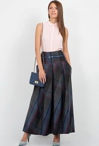 Длинная юбка в клетку Emka Fashion 427-lukeriya