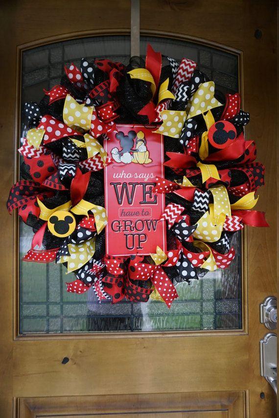Mickey Wreath Mickey Mouse Wreath Disney Wreath Classroom